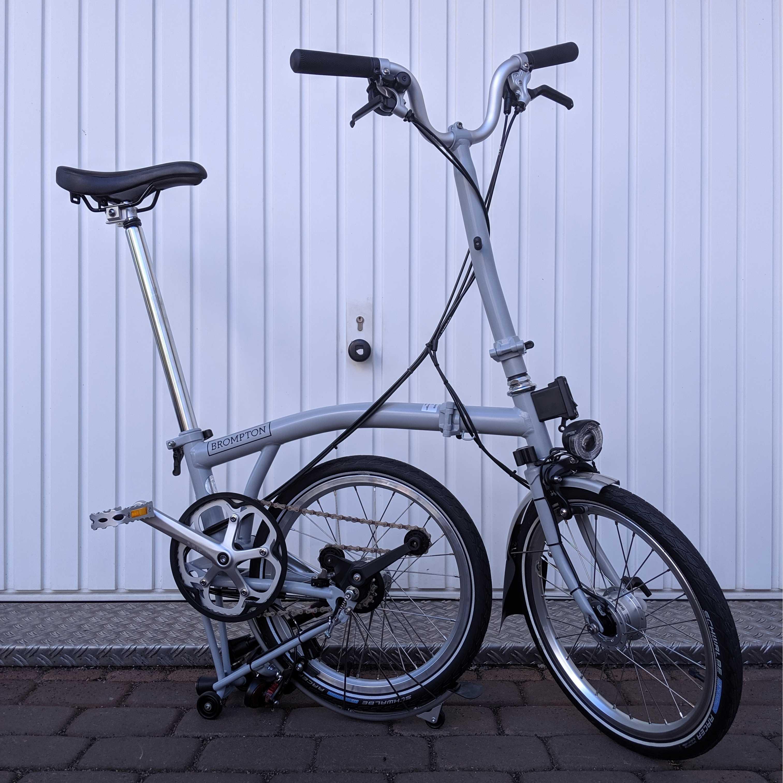 Brompton H6LD Grey Faltrad offen